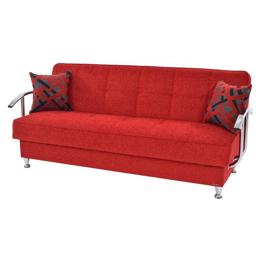 Brilliant Betsy Red Futon W Storage Dailytribune Chair Design For Home Dailytribuneorg