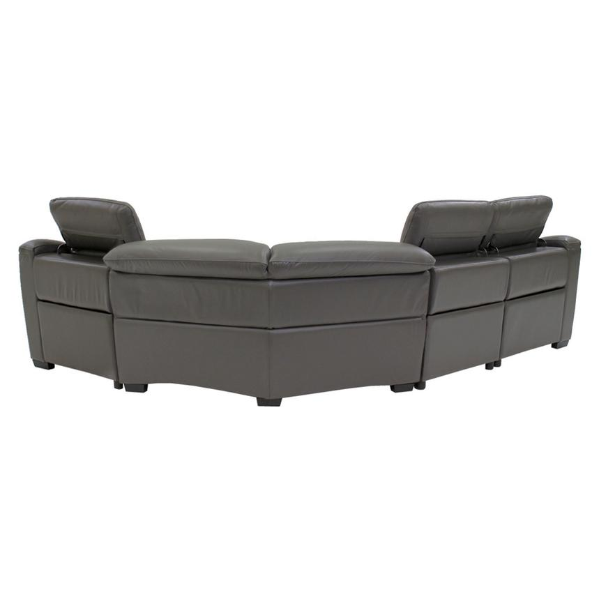 Davis Gray Power Motion Leather Sofa w/Right & Left Recliners  alternate image, 3 of 9 images.