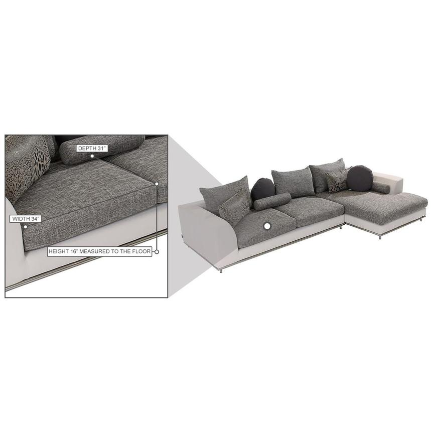 Hanna Sectional Sofa w/Right Chaise  alternate image, 9 of 10 images.