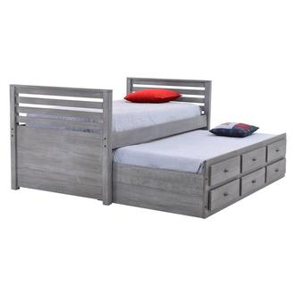 Montauk Gray Twin Storage Captain Bed