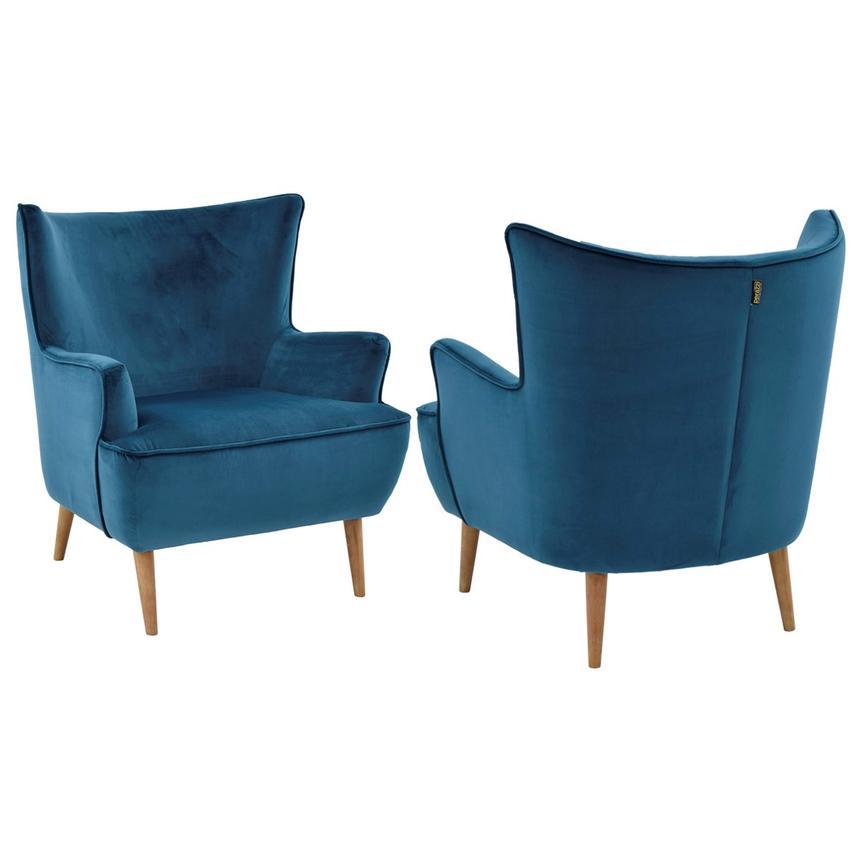 Zitza Lounge Stoel.Zita Blue Accent Chair El Dorado Furniture