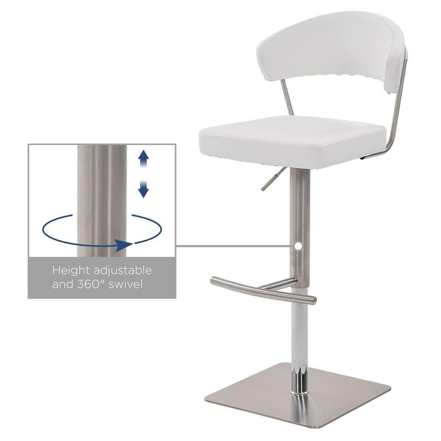 Bold White Adjustable Stool  alternate image, 7 of 7 images.