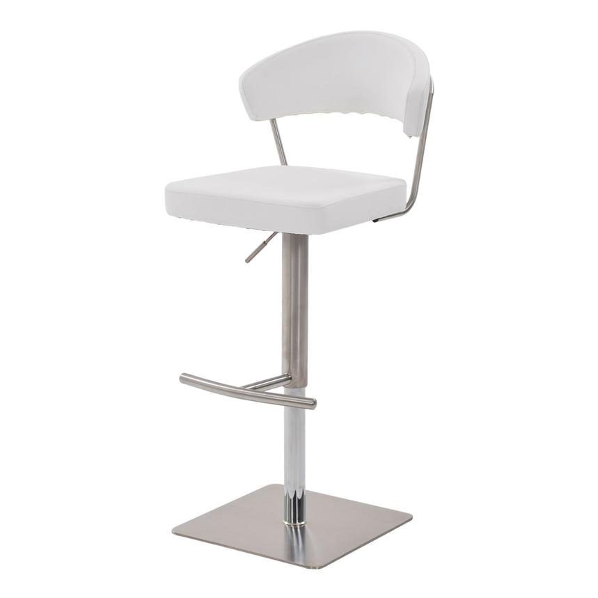 Bold White Adjustable Stool  alternate image, 2 of 7 images.