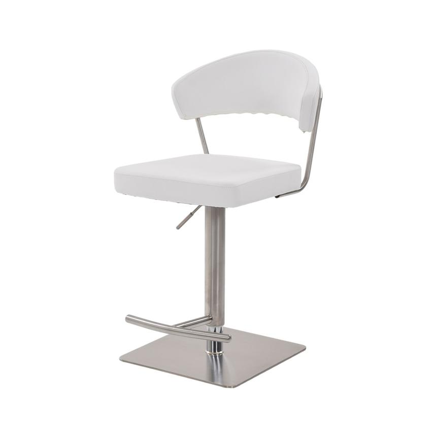 Bold White Adjustable Stool  alternate image, 3 of 6 images.
