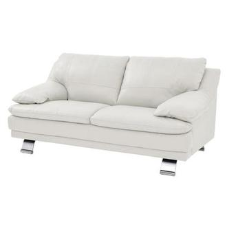 Rio White Leather Loveseat Made in Brazil