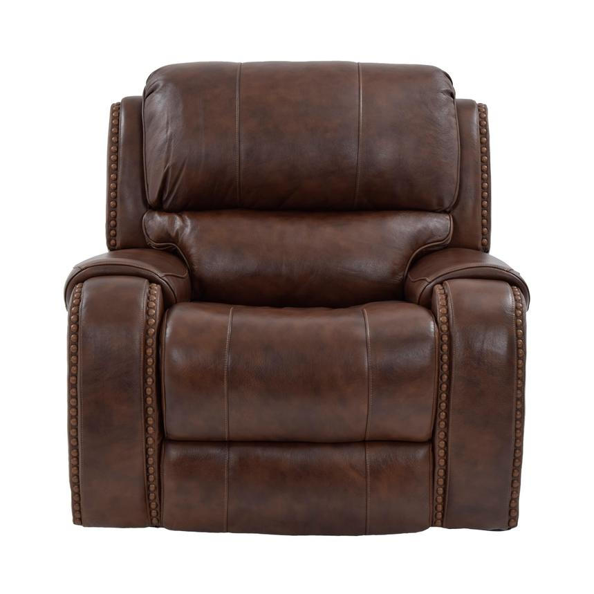 Durham Power Motion Leather Recliner  alternate image, 3 of 9 images.