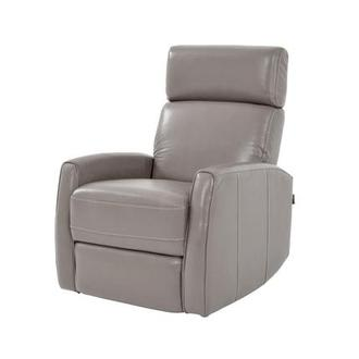 Lucca Gray Leather Power Recliner