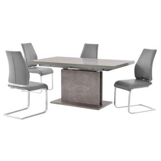 Kalinda/Maday Gray 5-Piece Dining Set