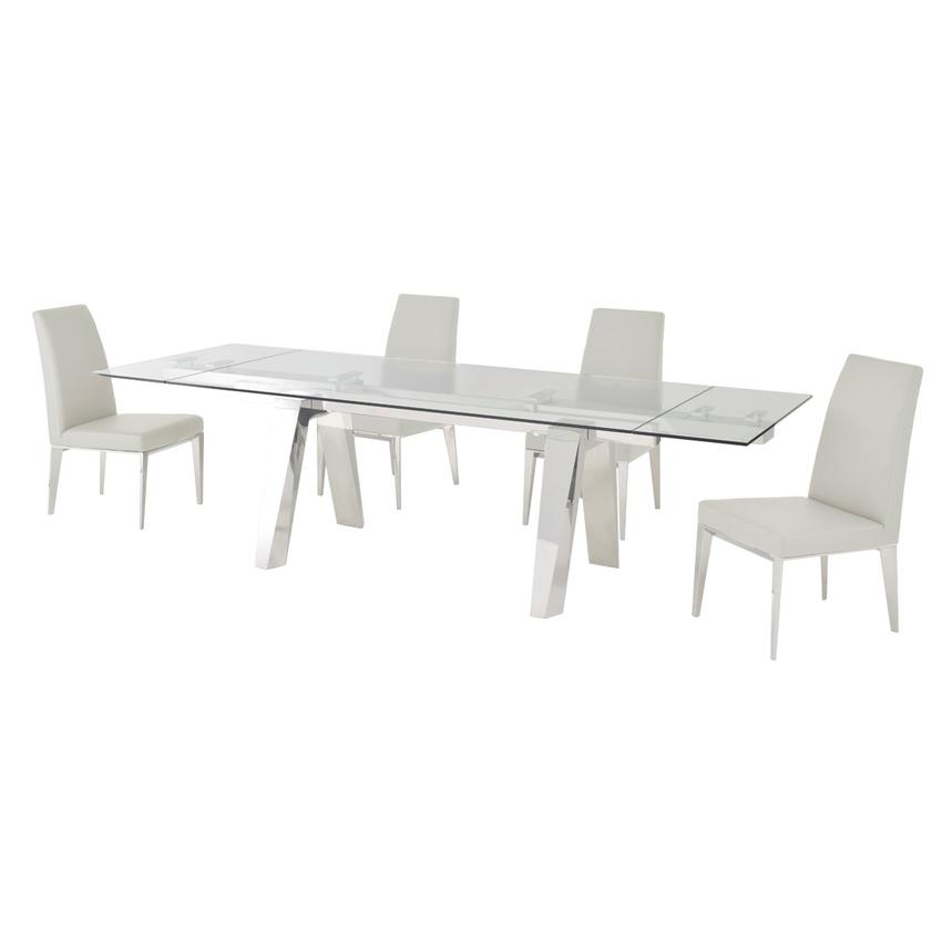 Madox White 5-Piece Formal Dining Set  alternate image, 2 of 11 images.