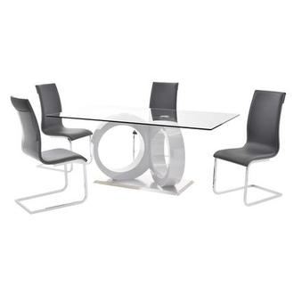 Stop 36 Gray 5-Piece Casual Dining Set