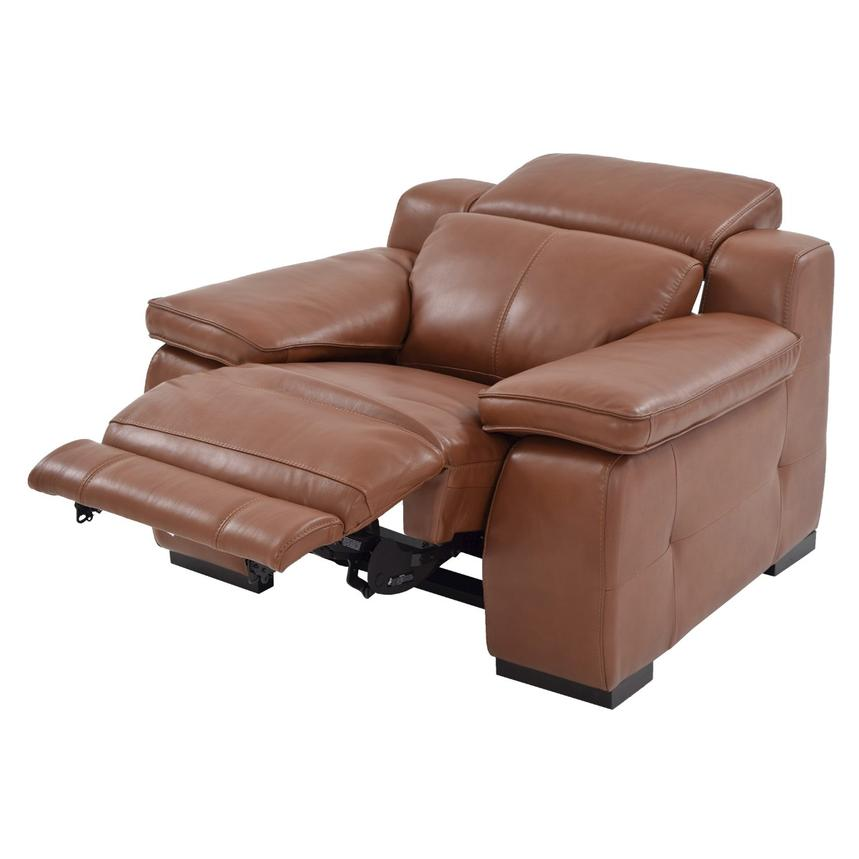 Gian Marco Tan Power Motion Leather Recliner  alternate image, 2 of 8 images.