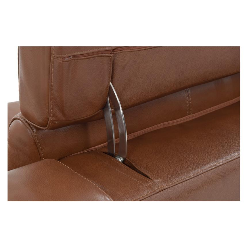 Gian Marco Tan Power Motion Leather Recliner  alternate image, 7 of 8 images.