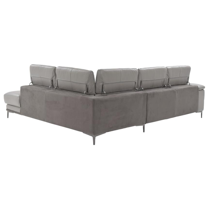 Richardson Power Motion Leather Sofa w/Right Chaise  alternate image, 3 of 8 images.