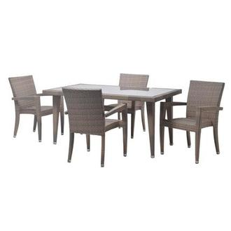 Neilina Brown 5-Piece Patio Set