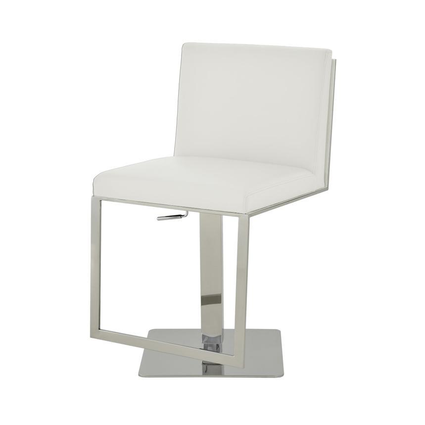 Aventura White Adjustable Stool El Dorado Furniture
