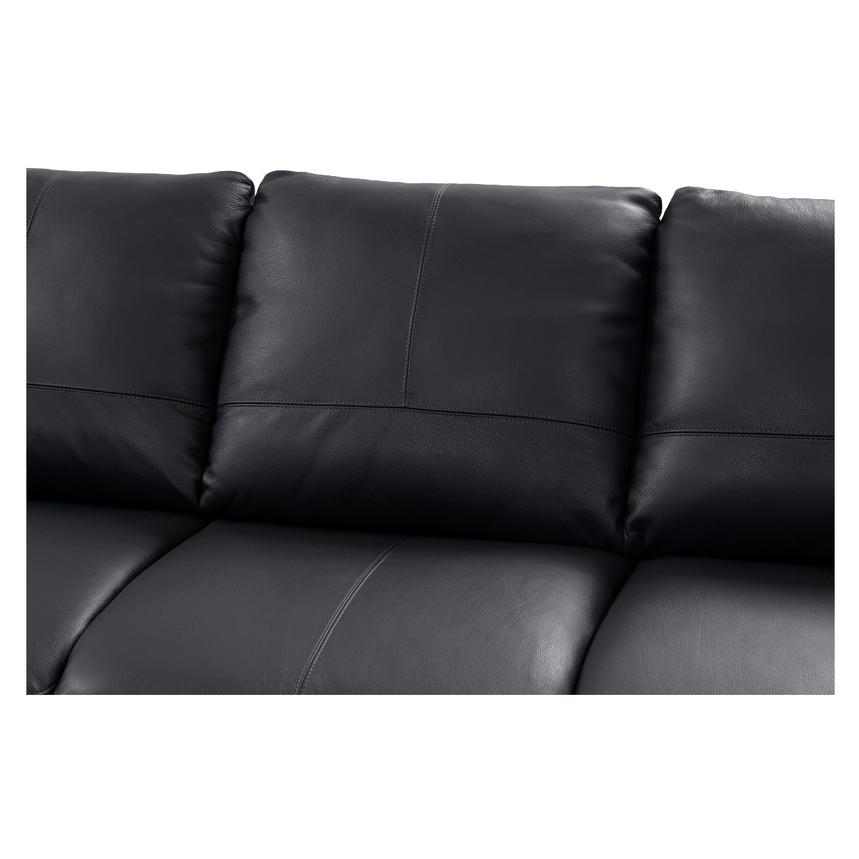Rio Dark Gray Leather Corner Sofa w/Left Chaise  alternate image, 3 of 8 images.