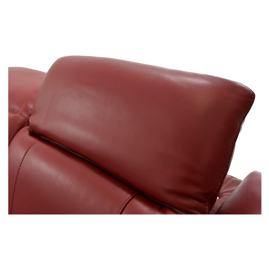 Davis Red Power Motion Leather Sofa w/Right & Left Recliners  alternate image, 8 of 11 images.