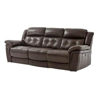 Stallion Brown Power Motion Leather Sofa