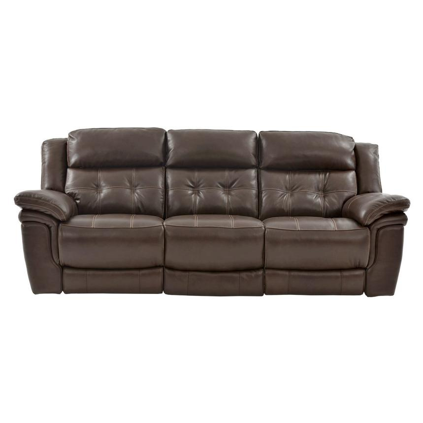 Stallion Brown Power Motion Leather Sofa El Dorado Furniture