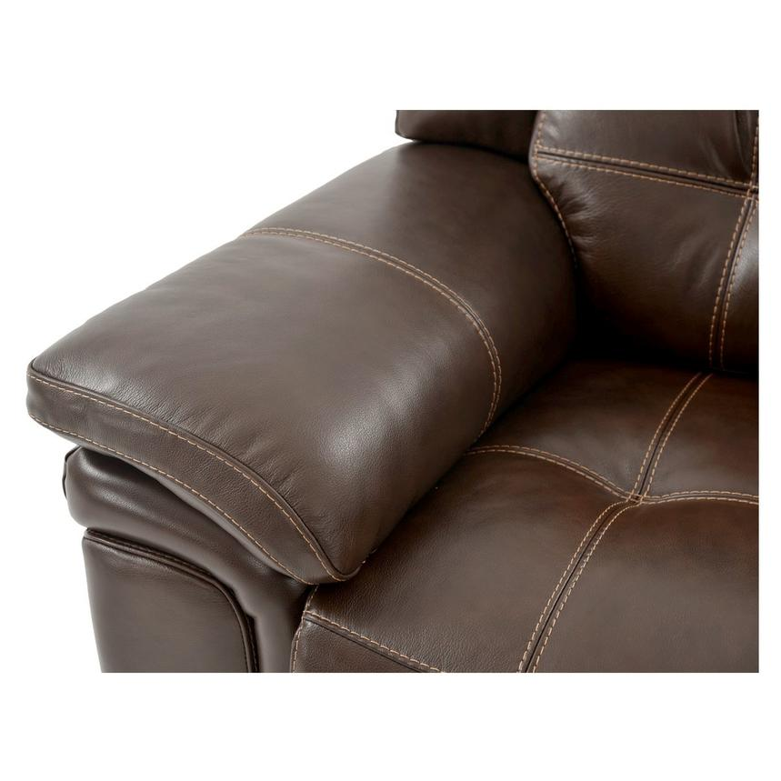 Stallion Brown Leather Power Reclining Sofa  alternate image, 7 of 8 images.