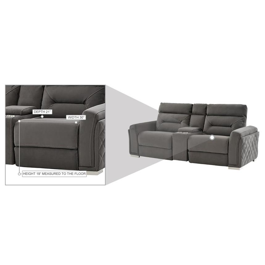 Kim Gray Power Reclining Sofa w/Console  alternate image, 13 of 14 images.