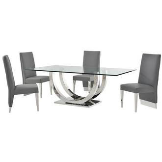 Ulysis Gray 5-Piece Dining Set
