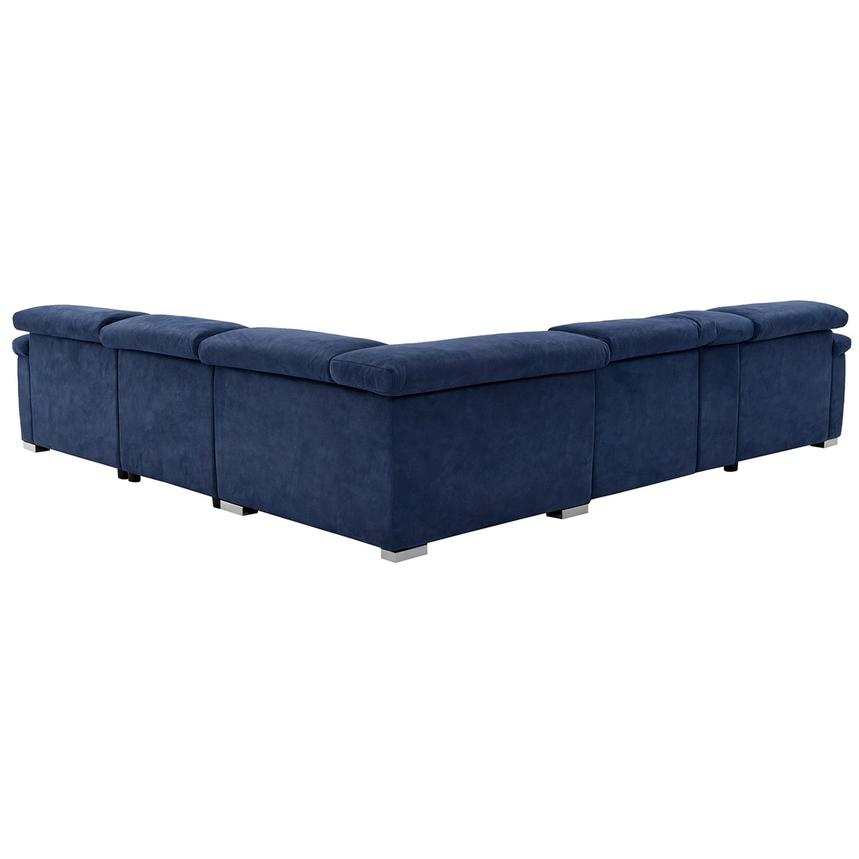 Kathan Blue Power Motion Sofa w/Right & Left Recliners  alternate image, 3 of 12 images.
