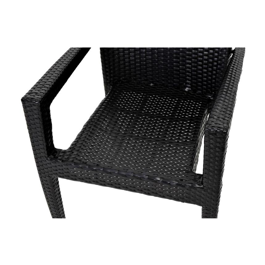 Gerald/Neilina Black 3-Piece Patio Set w/10mm Glass Top  alternate image, 8 of 9 images.