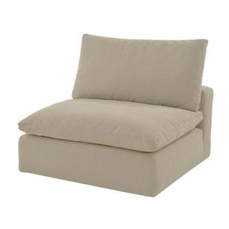 Nube II Beige Armless Chair