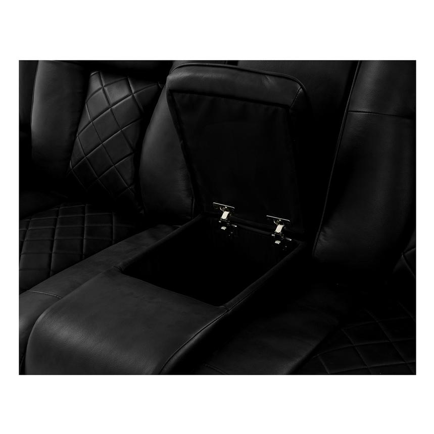 Chanel Black Power Motion Sofa w/Console  alternate image, 8 of 12 images.