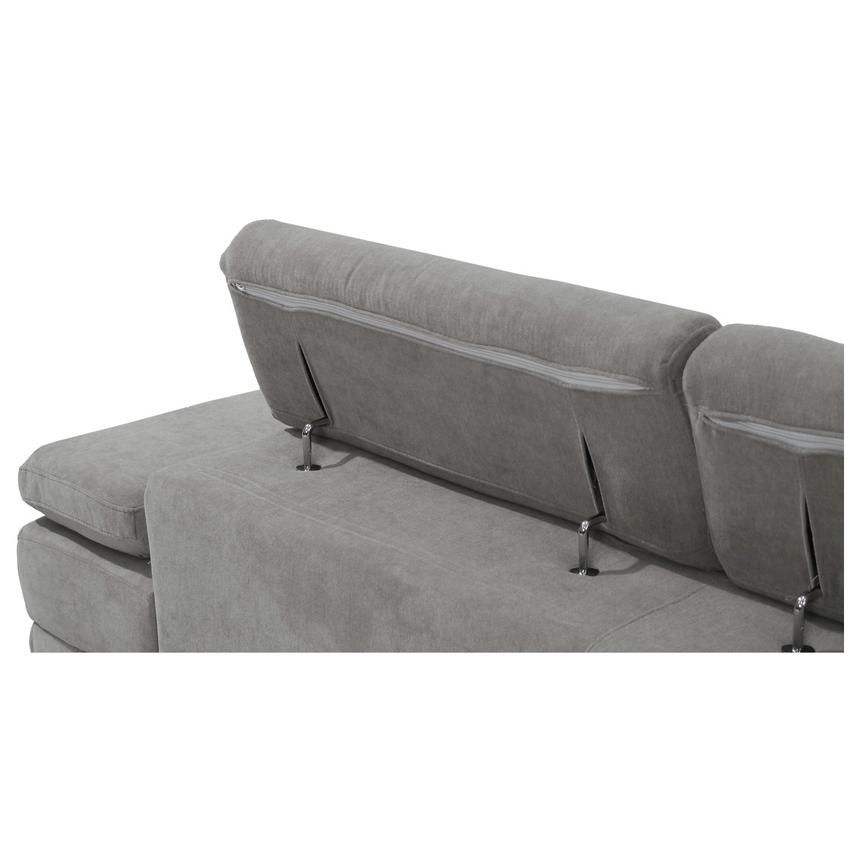 Taheri Gray Sofa w/Left Chaise  alternate image, 7 of 7 images.