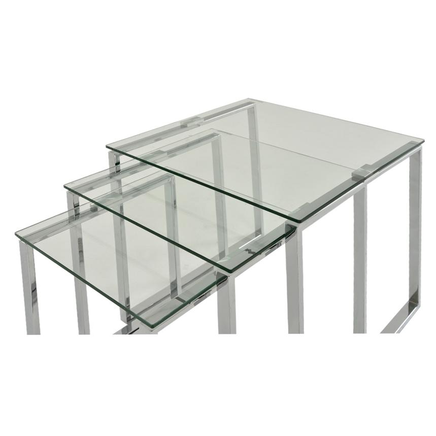 Katrine Clear Nesting Tables Set of 3  alternate image, 3 of 5 images.