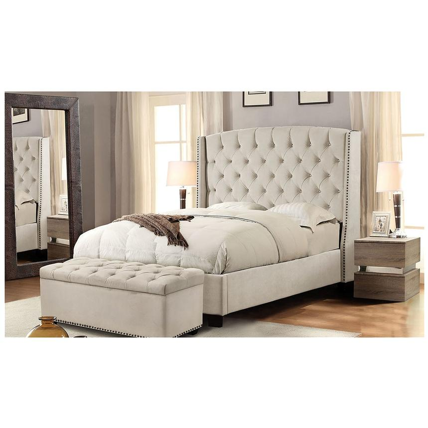 Majestic Beige Queen Platform Bed  alternate image, 2 of 6 images.