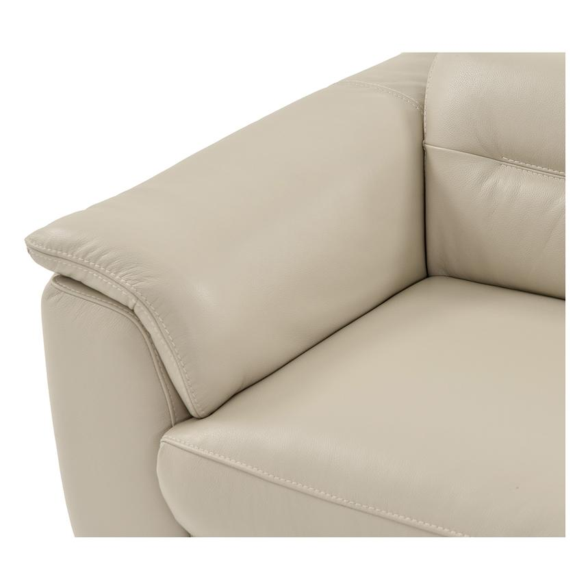 Anabel Cream Power Motion Leather Loveseat  alternate image, 5 of 11 images.