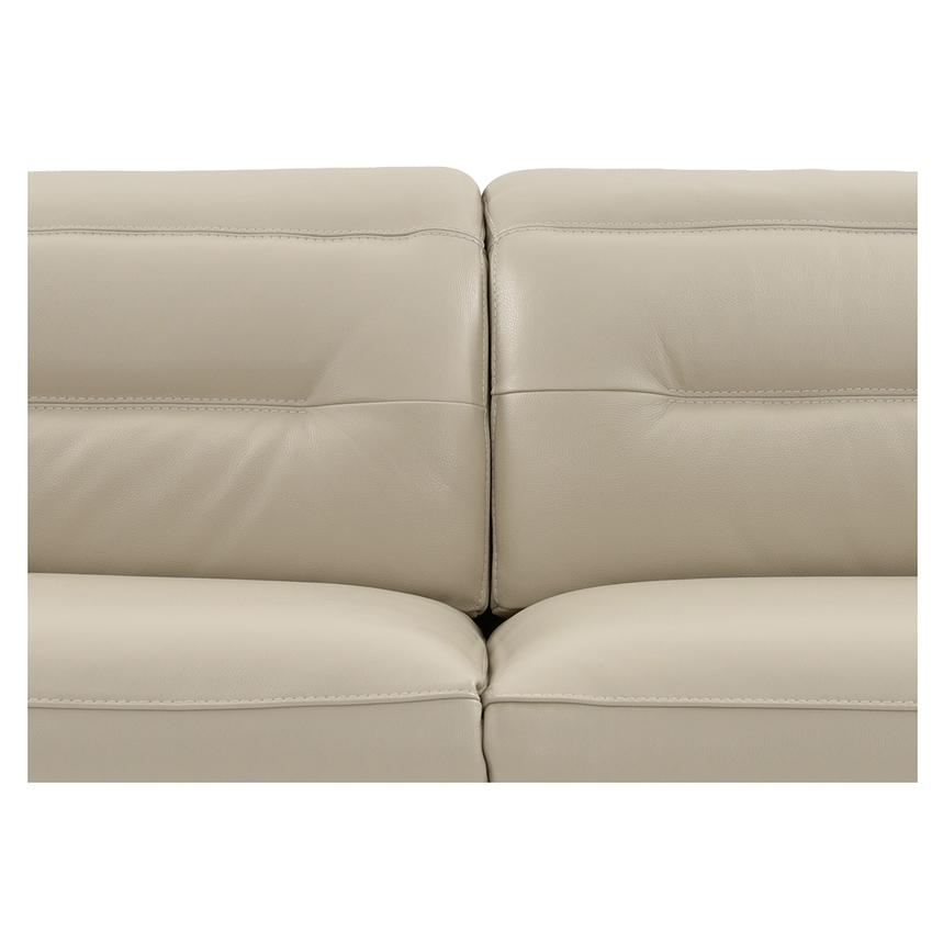 Anabel Cream Leather Power Reclining Loveseat  alternate image, 8 of 15 images.