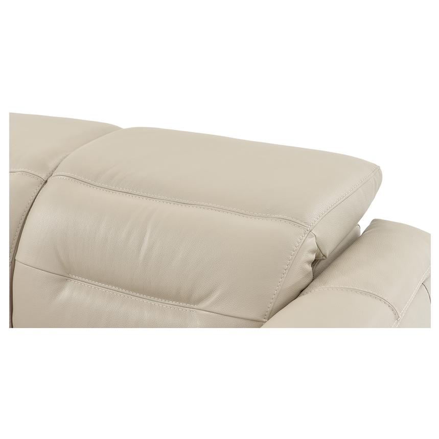 Anabel Cream Leather Power Reclining Loveseat  alternate image, 7 of 11 images.