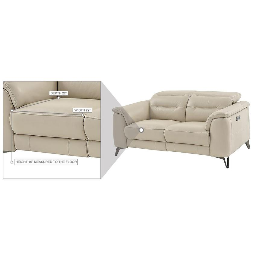 Anabel Cream Leather Power Reclining Loveseat  alternate image, 17 of 17 images.