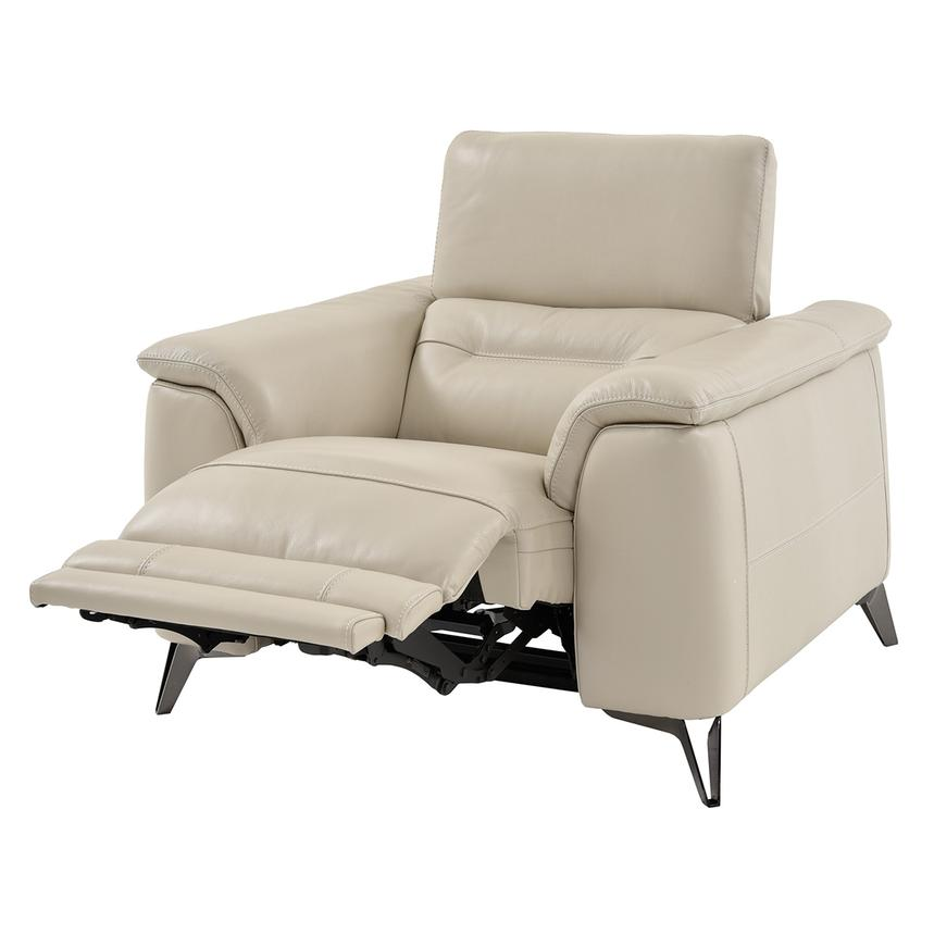 Anabel Cream Leather Power Recliner  alternate image, 2 of 9 images.