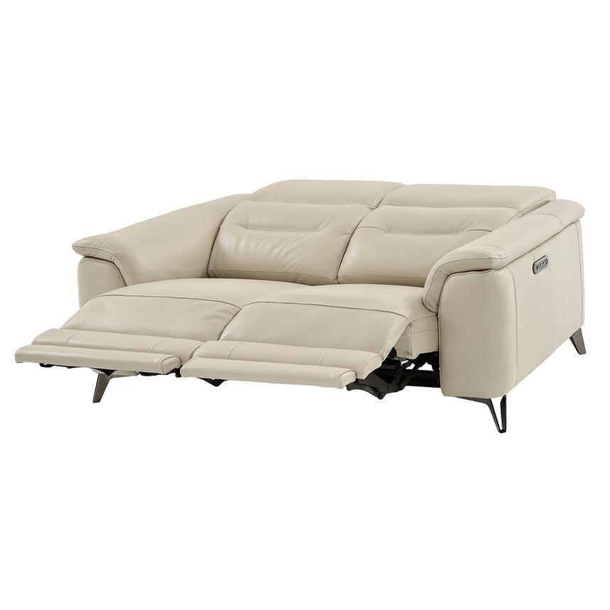 Anabel Cream Power Motion Leather Sofa  alternate image, 2 of 11 images.