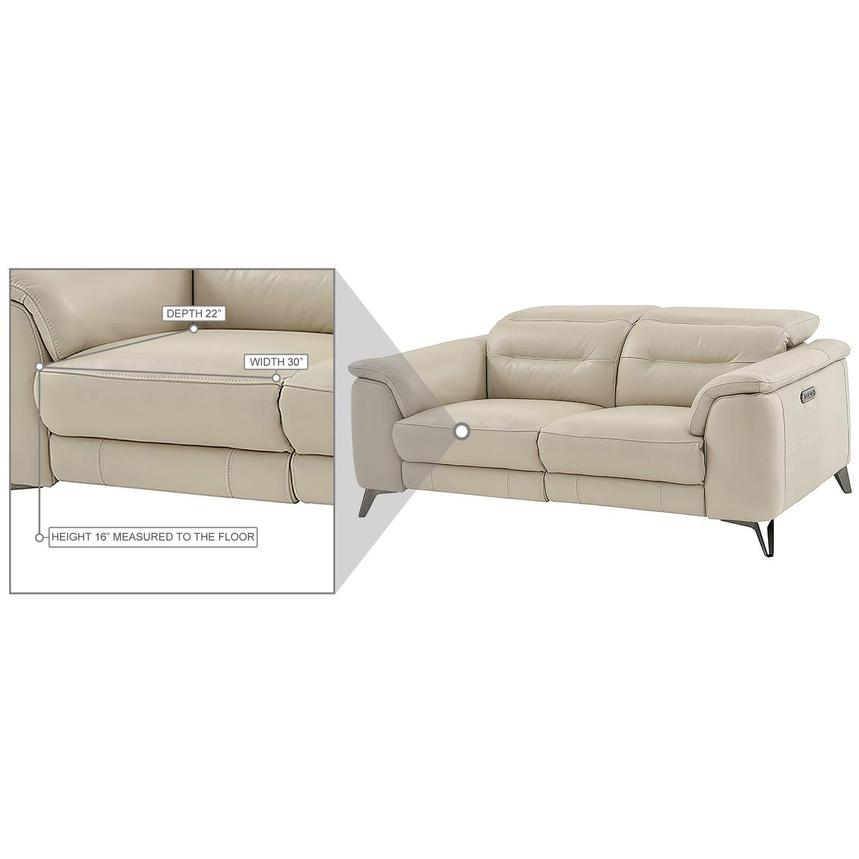 Anabel Cream Leather Power Reclining Sofa  alternate image, 17 of 17 images.