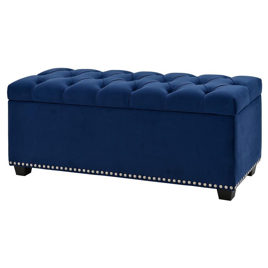 Superb Majestic Blue Storage Bench Frankydiablos Diy Chair Ideas Frankydiabloscom