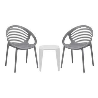 Positano/Naples Gray 3-Piece Patio Set