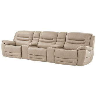 Dan Cream Home Theater Seating
