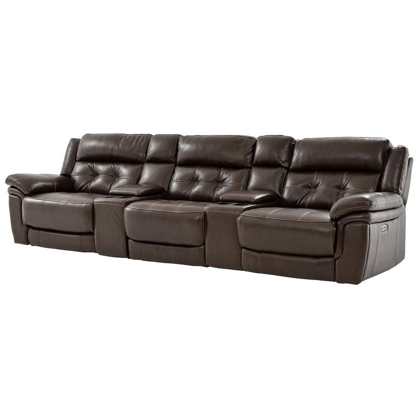 Stallion Brown Home Theater Leather Seating  main image, 1 of 11 images.