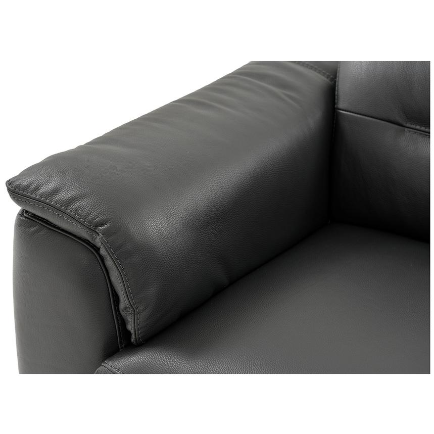 Anabel Gray Leather Power Reclining Sectional  alternate image, 6 of 15 images.