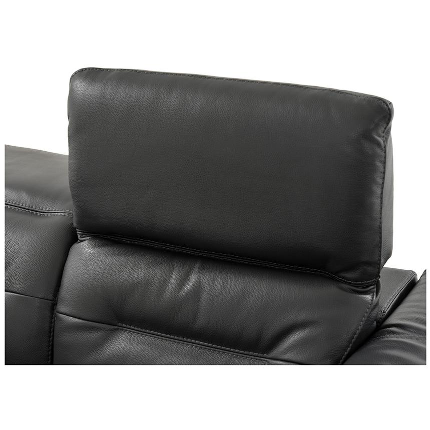 Anabel Gray Power Motion Leather Sofa w/Right & Left Recliners  alternate image, 8 of 11 images.
