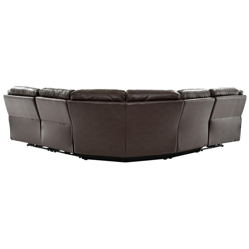Stallion Brown Leather Power Reclining Sectional  alternate image, 3 of 11 images.
