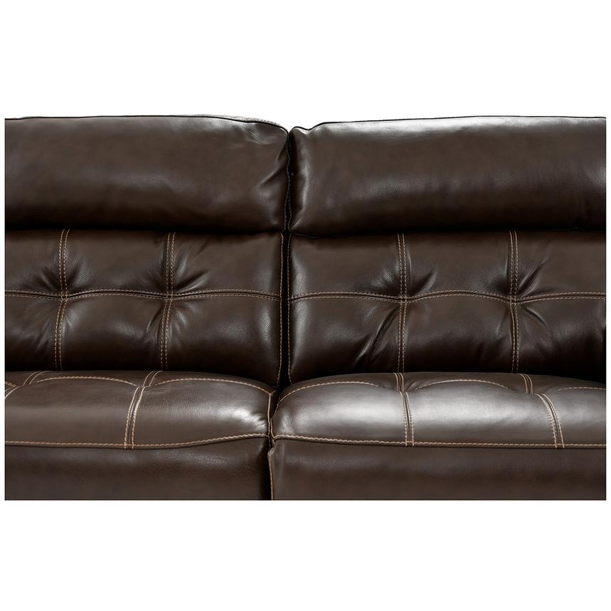 Stallion Brown Leather Power Reclining Sectional  alternate image, 7 of 10 images.