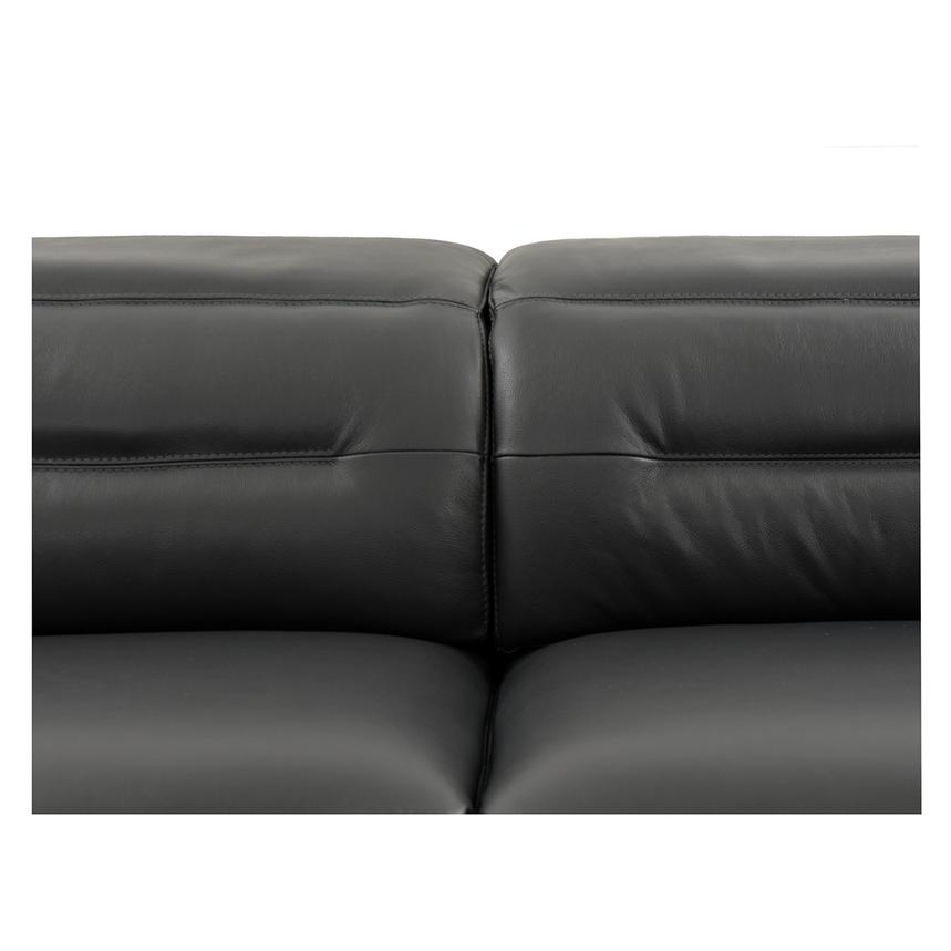 Anabel Gray Power Motion Leather Sofa w/Right & Left Recliners  alternate image, 7 of 12 images.