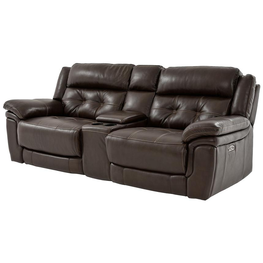 Stallion Brown Leather Reclining